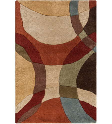 Surya FM7108-23 Forum 36 X 24 inch Brown and Brown Area Rug, Wool photo