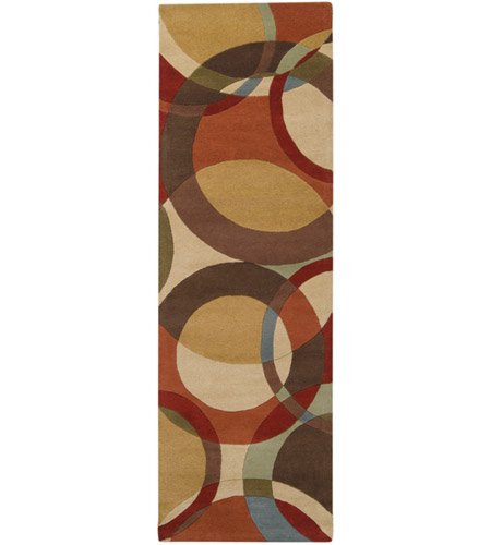 Surya FM7108-268 Forum 96 X 30 inch Brown and Brown Runner, Wool photo