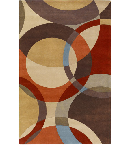 Surya FM7108-69 Forum 108 X 72 inch Brown and Brown Area Rug, Wool photo
