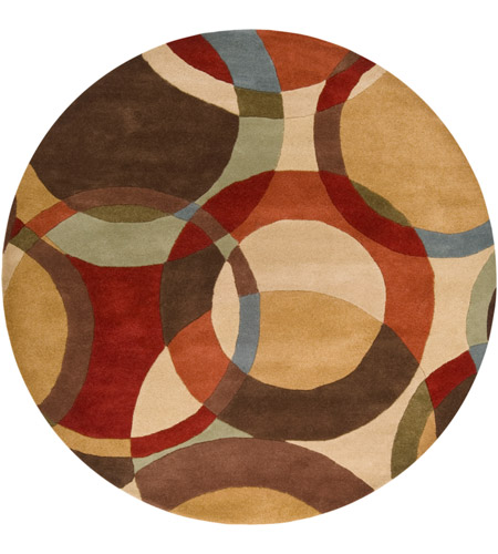 Surya FM7108-6RD Forum 72 inch Brown and Brown Area Rug, Wool photo