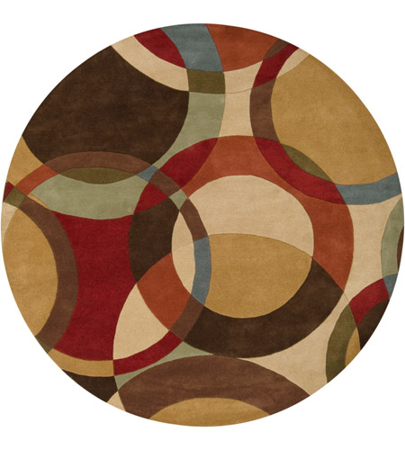 Surya FM7108-4RD Forum 48 inch Brown and Brown Area Rug, Wool photo