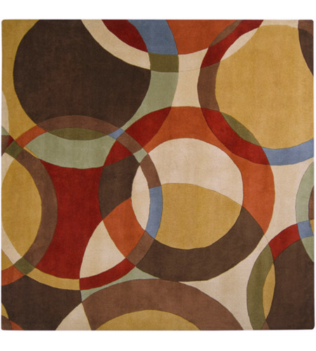 Surya FM7108-99SQ Forum 117 X 117 inch Brown and Brown Area Rug, Wool photo