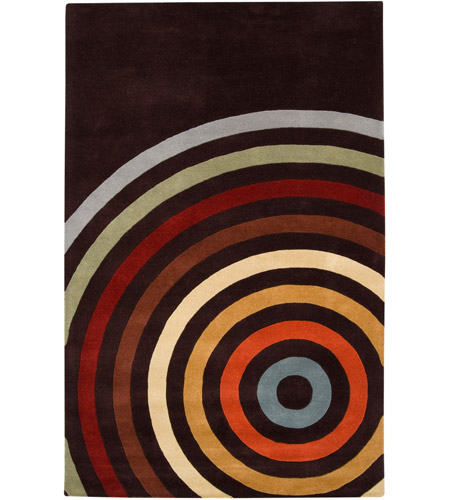Surya FM7138-23 Forum 36 X 24 inch Brown and Orange Area Rug, Wool photo