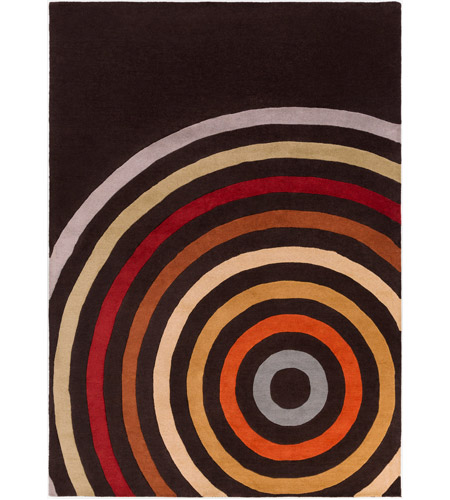 Surya FM7138-811 Forum 132 X 96 inch Brown and Orange Area Rug, Wool photo