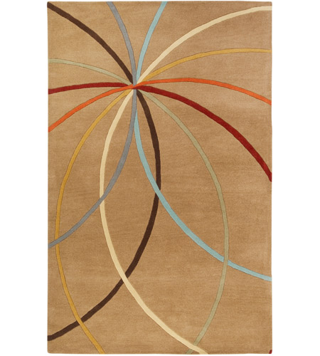 Surya FM7140-7696 Forum 114 X 90 inch Brown and Brown Area Rug, Wool photo