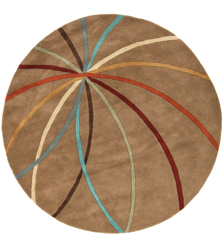 Surya FM7140-6RD Forum 72 inch Brown and Brown Area Rug, Wool photo