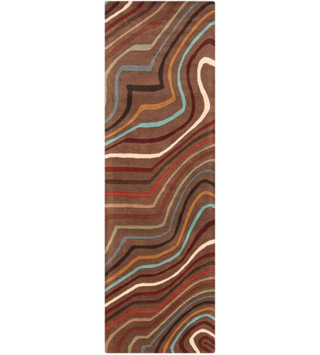 Surya FM7155-268 Forum 96 X 30 inch Red and Brown Runner, Wool photo
