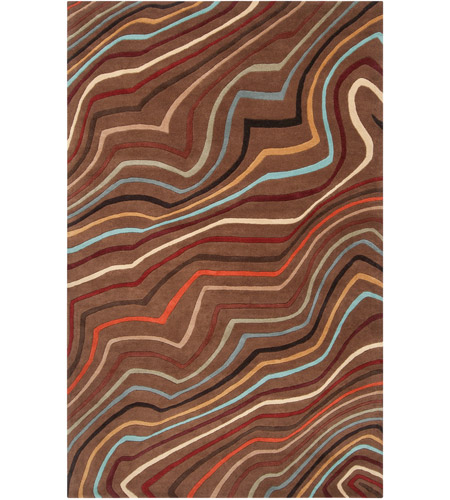 Surya FM7155-58 Forum 96 X 60 inch Red and Brown Area Rug, Wool photo
