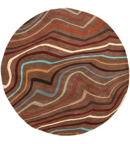 Surya FM7155-6RD Forum 72 inch Red and Brown Area Rug, Wool photo