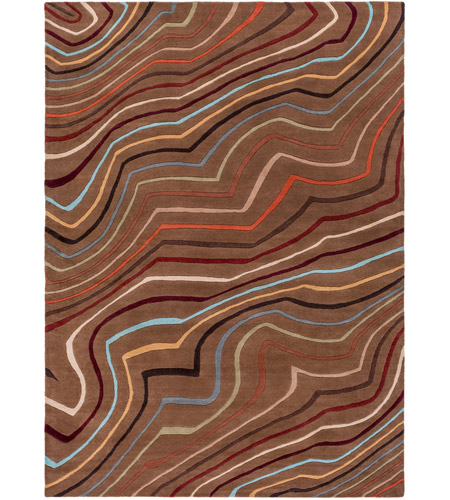 Surya FM7155-811 Forum 132 X 96 inch Red and Brown Area Rug, Wool photo