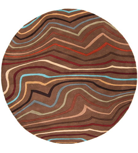 Surya FM7155-4RD Forum 48 inch Red and Brown Area Rug, Wool photo
