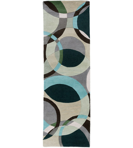 Surya FM7157-312 Forum 144 X 36 inch Green and Neutral Runner, Wool photo