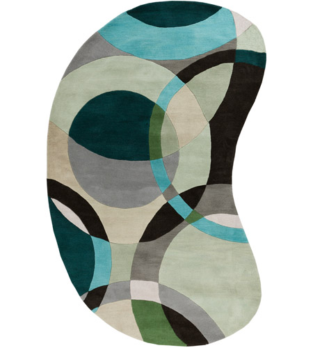 Surya FM7157-69KDNY Forum 108 X 72 inch Green and Neutral Area Rug, Wool photo