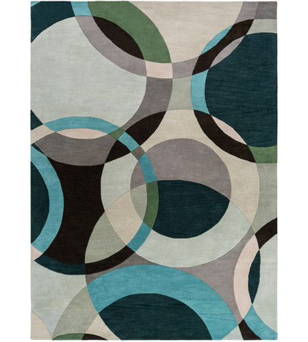 Surya FM7157-811 Forum 132 X 96 inch Green and Neutral Area Rug, Wool photo