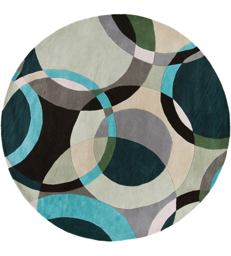 Surya FM7157-8RD Forum 96 inch Green and Neutral Area Rug, Wool photo