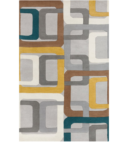 Surya FM7159-58 Forum 96 X 60 inch Green and Gray Area Rug, Wool photo
