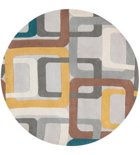 Surya FM7159-6RD Forum 72 inch Green and Gray Area Rug, Wool photo