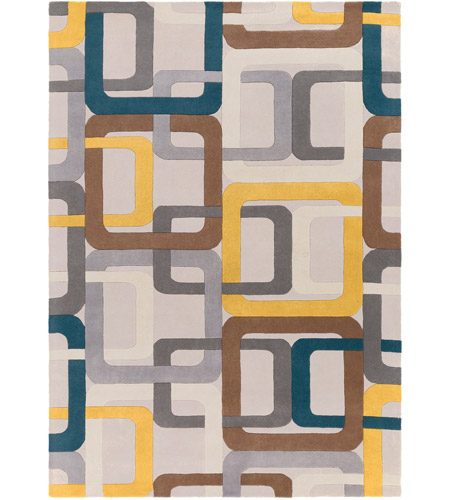 Surya FM7159-811 Forum 132 X 96 inch Green and Gray Area Rug, Wool photo