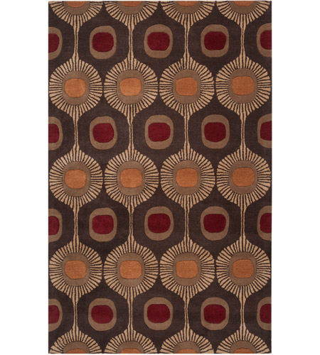 Surya FM7170-69 Forum 108 X 72 inch Brown and Brown Area Rug, Wool photo