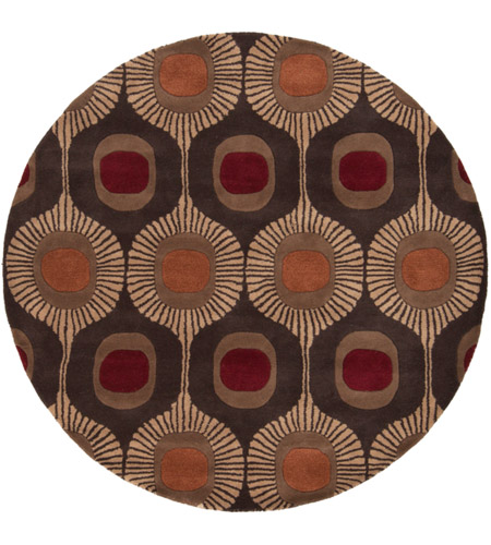 Surya FM7170-6RD Forum 72 inch Brown and Brown Area Rug, Wool photo