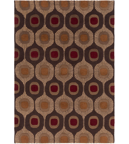 Surya FM7170-811 Forum 132 X 96 inch Brown and Brown Area Rug, Wool photo