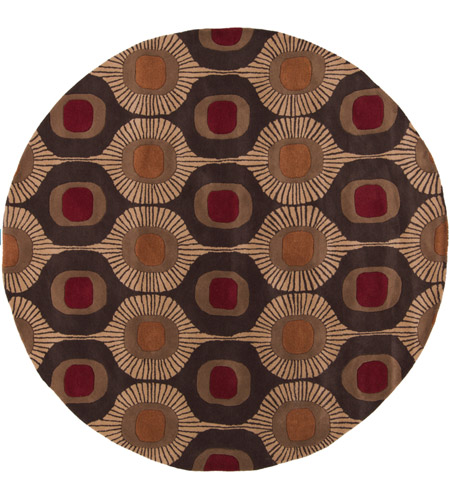 Surya FM7170-8RD Forum 96 inch Brown and Brown Area Rug, Wool photo