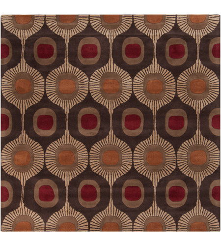 Surya FM7170-6SQ Forum 72 X 72 inch Brown and Brown Area Rug, Wool photo