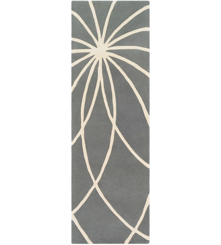 Surya FM7173-312 Forum 144 X 36 inch Gray and Neutral Runner, Wool photo