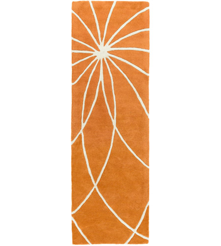 Surya FM7175-268 Forum 96 X 30 inch Orange and Neutral Runner, Wool photo