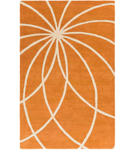 Surya FM7175-58 Forum 96 X 60 inch Orange and Neutral Area Rug, Wool photo