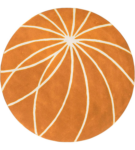 Surya FM7175-4RD Forum 48 inch Orange and Neutral Area Rug, Wool photo