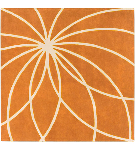 Surya FM7175-99SQ Forum 117 X 117 inch Orange and Neutral Area Rug, Wool photo