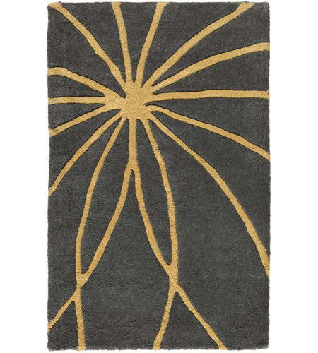 Surya FM7181-23 Forum 36 X 24 inch Yellow and Gray Area Rug, Wool photo