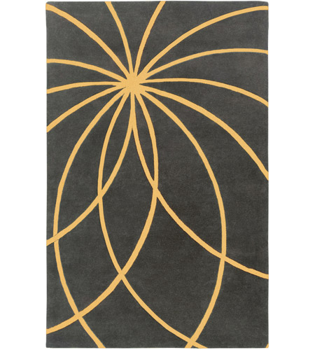 Surya FM7181-69 Forum 108 X 72 inch Yellow and Gray Area Rug, Wool photo