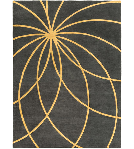 Surya FM7181-811 Forum 132 X 96 inch Yellow and Gray Area Rug, Wool photo