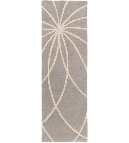 Surya FM7184-268 Forum 96 X 30 inch Gray and Neutral Runner, Wool photo