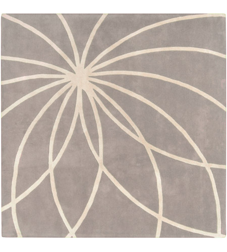 Surya FM7184-4SQ Forum 48 X 48 inch Gray and Neutral Area Rug, Wool photo