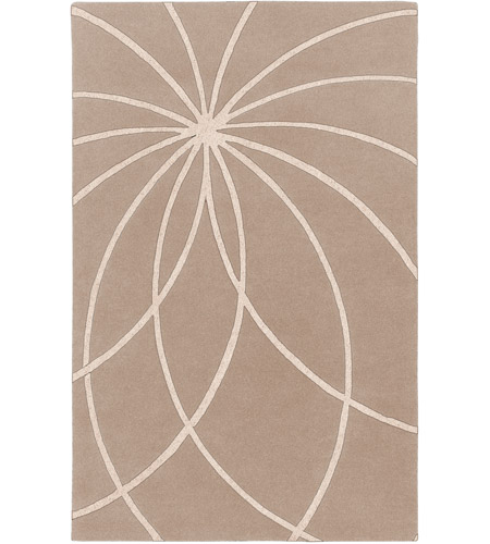 Surya FM7185-58 Forum 96 X 60 inch Neutral and Neutral Area Rug, Wool photo