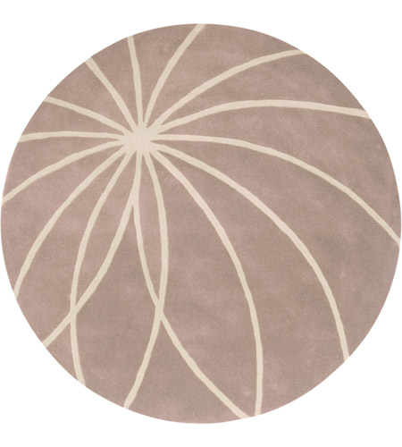 Surya FM7185-4RD Forum 48 inch Neutral and Neutral Area Rug, Wool photo