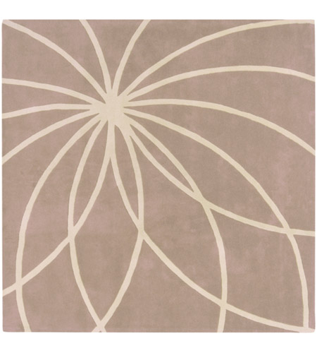 Surya FM7185-6SQ Forum 72 X 72 inch Neutral and Neutral Area Rug, Wool photo
