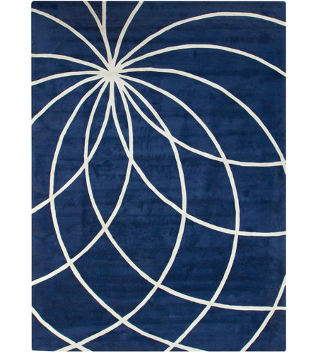 Surya FM7186-1014 Forum 168 X 120 inch Blue and Neutral Area Rug, Wool photo