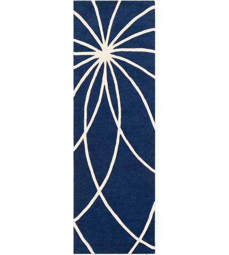 Surya FM7186-312 Forum 144 X 36 inch Blue and Neutral Runner, Wool photo