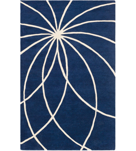 Surya FM7186-46 Forum 72 X 48 inch Blue and Neutral Area Rug, Wool photo