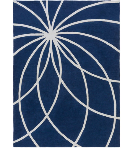 Surya FM7186-811 Forum 132 X 96 inch Blue and Neutral Area Rug, Wool photo