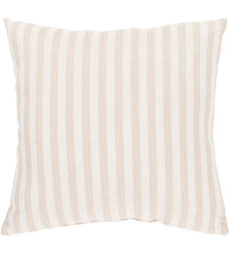 Surya FN004-1616 Finn 16 X 16 inch Khaki and White Outdoor Throw Pillow photo
