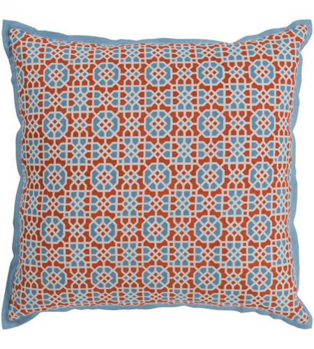 Surya Fnc006 2222 Francesco 22 X 22 Inch Burnt Orange Pillow
