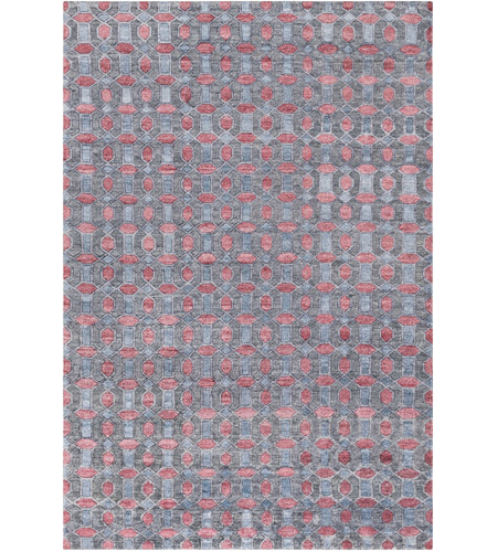Surya FNT1000-23 Florentine 36 X 24 inch Blue and Gray Area Rug, Viscose photo