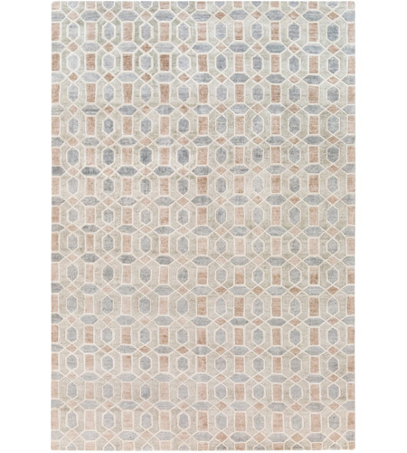 Surya FNT1002-69 Florentine 108 X 72 inch Neutral and Neutral Area Rug, Viscose photo