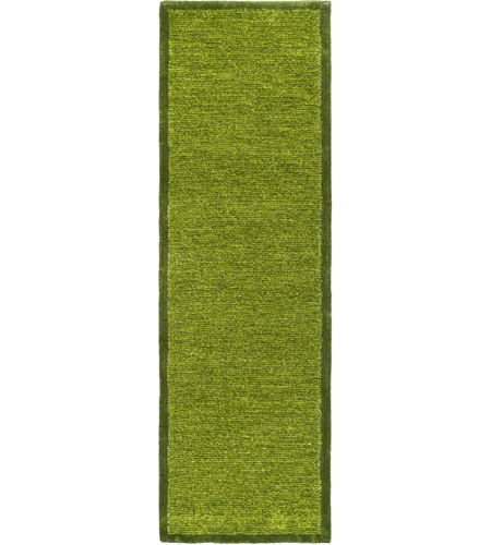 Surya FNY3001-268 Finley 96 X 30 inch Green and Green Runner, Polyester photo