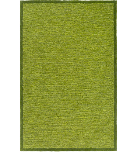 Surya FNY3001-576 Finley 90 X 60 inch Green and Green Area Rug, Polyester photo